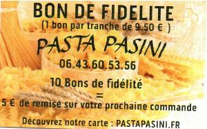 Bon de fidélité Pasta Pasini